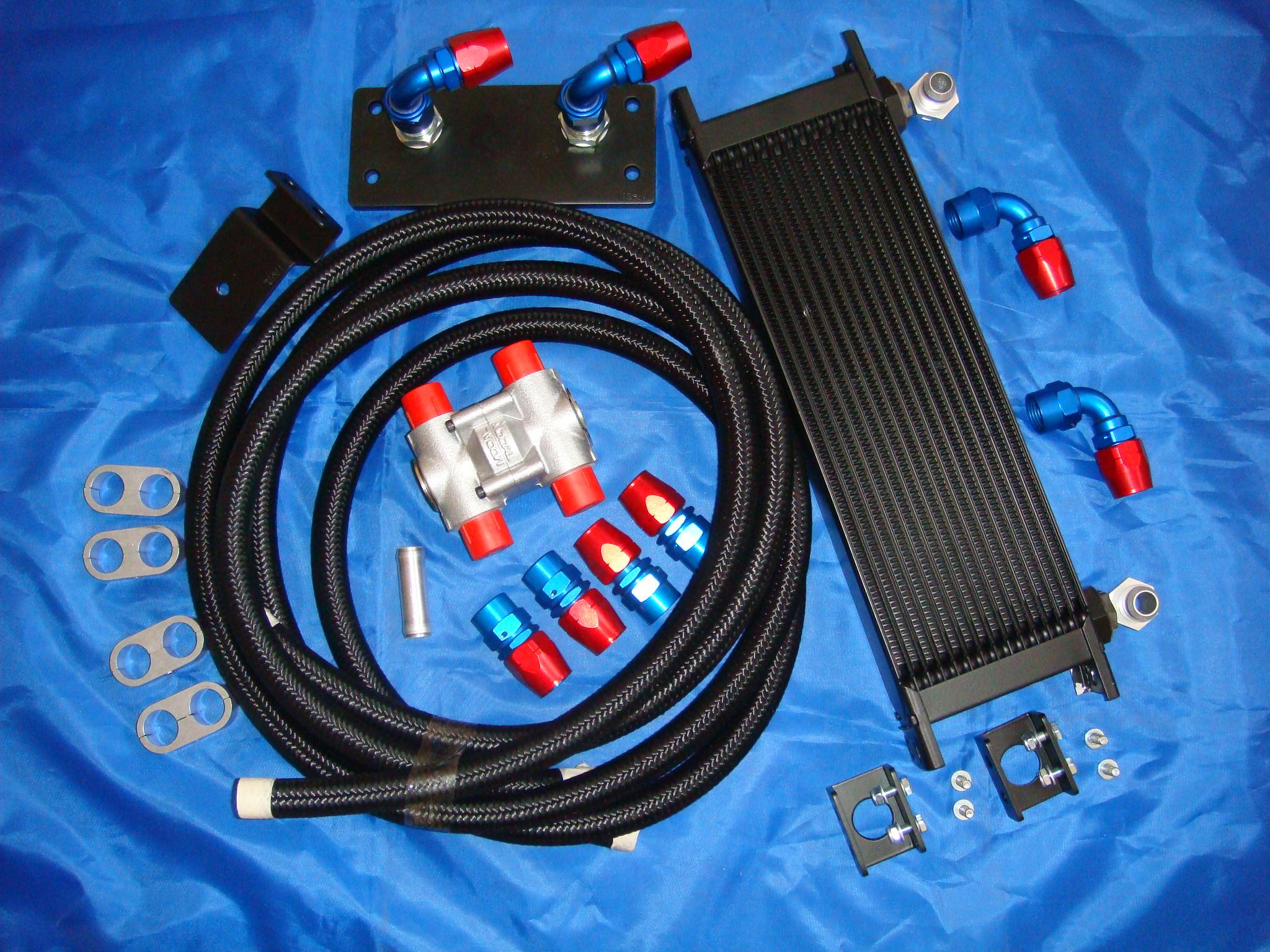Jw racing oil cooler kit focus rs mk2