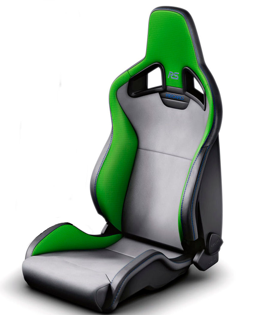 Genuine Ford Recaro RS front seat in Lime to suit Focus RS Mk2, this