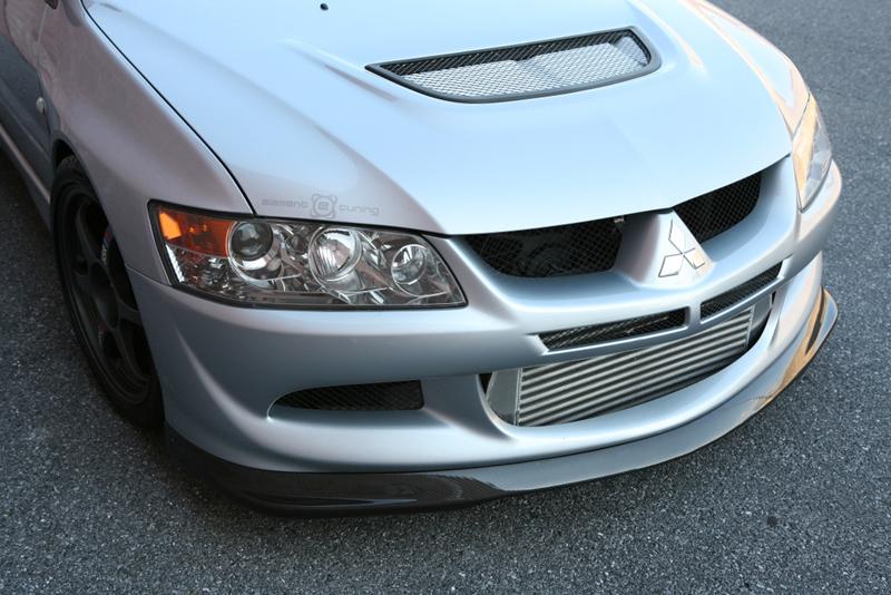 BlackTop Aero Carbon Fibre Front Lip Spoiler Type D For 03~05 EVO VIII
